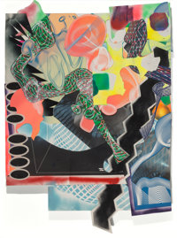 Frank Stella (b. 1936) Michael Kohlhaas panel #1, 1999 Mixed media on paper with collage 66 x 48