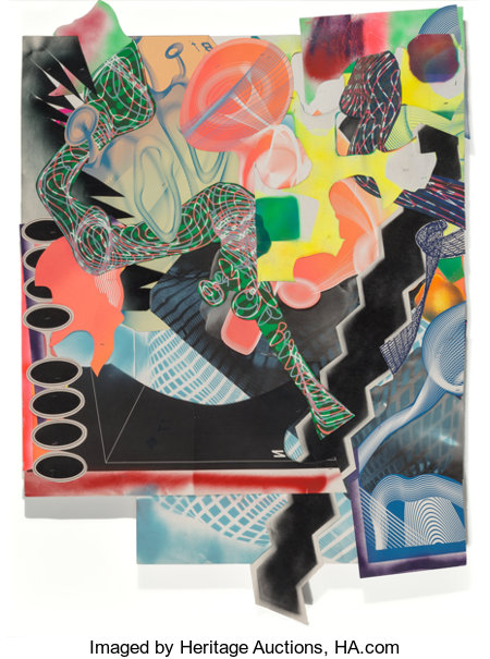 Frank Stella (b. 1936)Michael Kohlhaas panel #1, 1999Mixed media on paper with collage 66 x 48 inches (167.6 x 121...