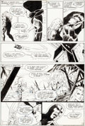 Original Comic Art:Panel Pages, Keith Giffen and John Celardo Challengers of the Unknown #84 Story Page 12 Swamp Thing and Deadman Original Art (D...