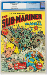 Sub-Mariner Comics #1 Larson Pedigree (Timely, 1941) CGC VF/NM 9.0 Off-white to white pages
