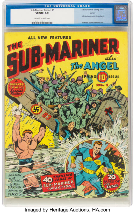 Sub-Mariner Comics #1 Larson Pedigree (Timely, 1941) CGC VF/NM 9.0 Off-white to white pages....