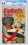 Silver Age (1956-1969):Superhero, Fantastic Four #3 (Marvel, 1962) CGC VG 4.0 Cream to off-w...