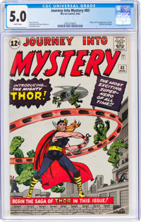 Journey Into Mystery #83 (Marvel, 1962) CGC VG/FN 5.0 White pages