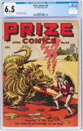 Golden Age (1938-1955):Miscellaneous, Prize Comics #52 (Prize, 1945) CGC FN+ 6.5 Off-white pages....
