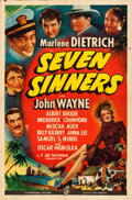 "Movie Posters:Adventure, Seven Sinners (Universal, 1940). Folded, Fine+. One Sheet (27"" X 41"").. ..."