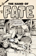 Original Comic Art:Covers, Ace Comics Artist Hand of Fate #20 Cover Original Art (Ace, 1953)....
