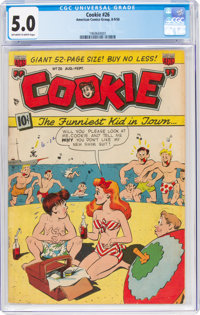 Cookie #26 (ACG, 1950) CGC VG/FN 5.0 Off-white to white pages
