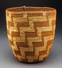 A Northwest Coast Imbricated Storage Basket