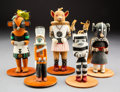 American Indian Art:Kachina Dolls, Five Hopi Kachina Dolls... (Total: 5 )