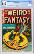 Golden Age (1938-1955):Science Fiction, Weird Fantasy #18 (EC, 1953) CGC VF 8.0 Off-white pages....