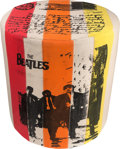 Music Memorabilia:Memorabilia, The Beatles Multi-Colored Cushioned Stool. . ...