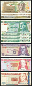 World Currency, A Colorful Selection of Ten Various Notes from Guatemala. Choice Crisp Uncirculated.. ... (Total: 10 notes)