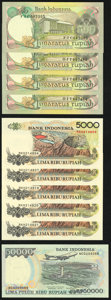 World Currency, A Modern Selection from Indonesia. Choice Crisp Uncirculated.. ... (Total: 10 notes)