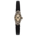 Estate Jewelry:Watches, Antique Tissot Lady's Diamond, Platinum Watch. ...