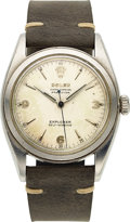 Timepieces:Wristwatch, Rolex, Extremely Rare Ref. 6098 White Dial 3,6,9 Explorer, Oyster Perpetual Precision, Circa 1952. ...