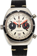 Timepieces:Wristwatch, Breitling, Chrono-Matic Ref. 2112 Chronograph, Stainless Steel, Circa 1970's. ...