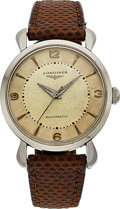 Timepieces:Wristwatch, Longines, Vintage Steel Automatic, circa 1940's. ...