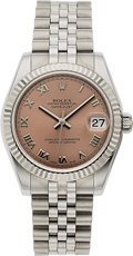 Timepieces:Wristwatch, Rolex, Ref. 178274 DateJust 31mm, Stainless Steel and White Gold, Circa 2006. ...
