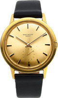 Timepieces:Wristwatch, Patek Philippe, Ref. 3542J Calatrava, 18k Gold Automatic, 36mm, Circa 1960's. ...