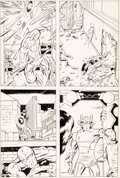 Original Comic Art:Panel Pages, Barry Smith Captain America Tryout Page Original Art (Marvel, c. 1968/69)....