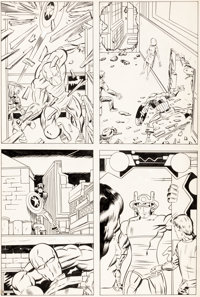 Barry Smith Captain America Tryout Page Original Art (Marvel, c. 1968/69)