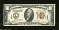 Small Size:World War II Emergency Notes, Fr. 2303 $10 1934A Hawaii Federal Reserve Note. About Uncirculated....