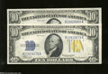 Small Size:World War II Emergency Notes, Fr. 2309 $10 1934A North Africa Silver Certificates. Consecutive Pair. Choice Crisp Uncirculated.... (2 notes)