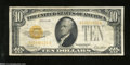 Small Size:Gold Certificates, Fr. 2400 $10 1928 Gold Certificate. Very Fine....