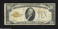 Small Size:Gold Certificates, Fr. 2400 $10 1928 Gold Certificate. Fine....