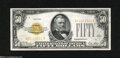 Small Size:Gold Certificates, Fr. 2404 $50 1928 Gold Certificate. About Uncirculated....