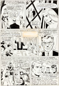 Don Heck and Wally Wood The Avengers #21 Story Page 20 Scarlet Witch Original Art (Marvel, 1965)
