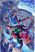Original Comic Art:Paintings, Tim and Greg Hildebrandt Spider-Man vs. Green Goblin Painting Original Art (Dynamic Forces, 2002)....