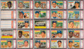 Baseball Cards:Sets, 1956 Topps Baseball PSA Graded Complete Set (340) Plus Checklists (2) With No Card Graded Below PSA NM 7....