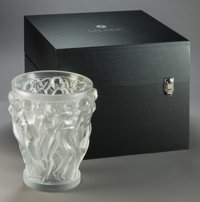 Lalique Bacchantes XXL Frosted Glass Grand Vase in Original Fitted Box, post-1945