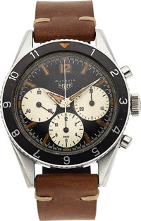 Heuer, Very Rare Autavia, First Execution Dial/Second Execution Hands, Chronograph, Circa 1963