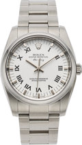 Timepieces:Wristwatch, Rolex, Oyster Perpetual Air King, Ref. 114200, Stainless Steel, Circa 2000's. ...
