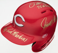 "Rose, Morgan, & Bench ""Big Red Machine"" Multi-Signed Cincinnati Reds Mini Helmet"