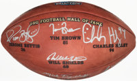 2015 Pro Football Hall of Fame Induction Class Multi-Signed Limited Edition Football (7 Signatures)
