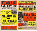 Music Memorabilia:Posters, The Sylvers & The Chairmen of the Board - Two Vintage Concert Posters (circa 1970s)... (Total: 2 Items)
