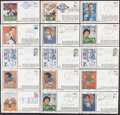 Autographs:Post Cards, Football Greats Signed First Day Cover Lot of 44....