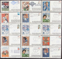Football Greats Signed First Day Cover Lot of 44