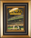 Baseball Collectibles:Publications, 1954 First Sports Illustrated Magazine Framed Display....