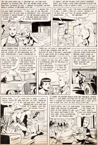 Matt Baker and Ray Osrin Teen-Age Romances #21 Story Page 11 Original Art (St. John, 1952)