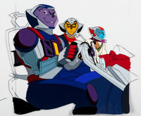 Biker Mice From Mars Throttle, Vinnie, and Modo Production Cel and Animation Drawing (Marvel Films, 1995).... (Total: 2...