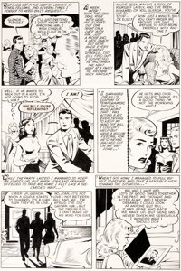 Matt Baker and Ray Osrin Teen-Age Romances #17 Story Page 11 Original Art (St. John, 1951)