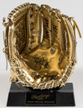 "Autographs:Bats, Johnny Bench ""HOF 89"" Signed Mini Gold Glove. Off..."