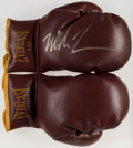 Autographs:Others, Mike Tyson Signed Boxing Glove. Offered is a pair ...