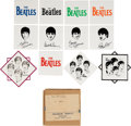 Music Memorabilia:Memorabilia, The Beatles Original Set of Ceramic Tiles (12) in Shipping Box (UK-1960's). . ...