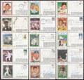 Autographs:Post Cards, Baseball Greats Signed First Day Cover Lot of 33....