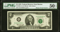Binary Serial Number 11110101 Fr. 1935-A $2 1976 Federal Reserve Note. PMG About Uncirculated 50 EPQ